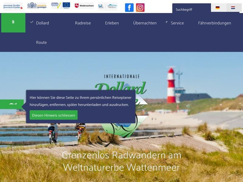 Screenshot von www.dollard-route.de