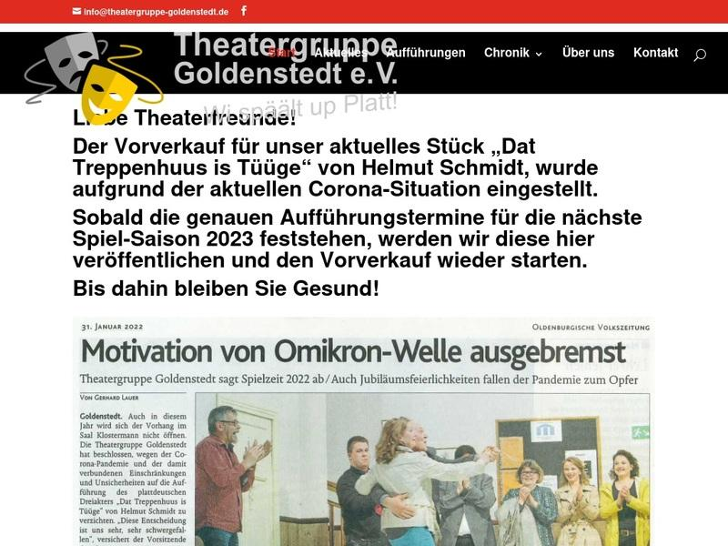 Screenshot von www.theatergruppe-goldenstedt.de