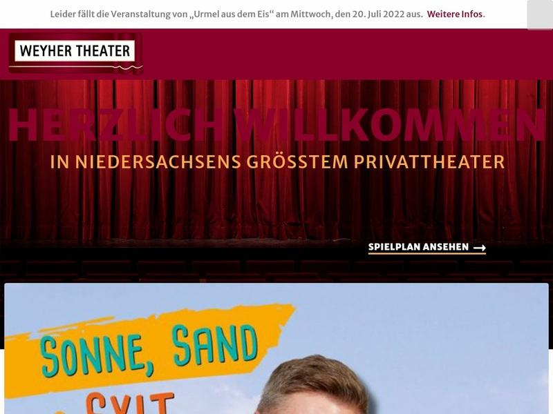 Screenshot von www.weyhertheater.de